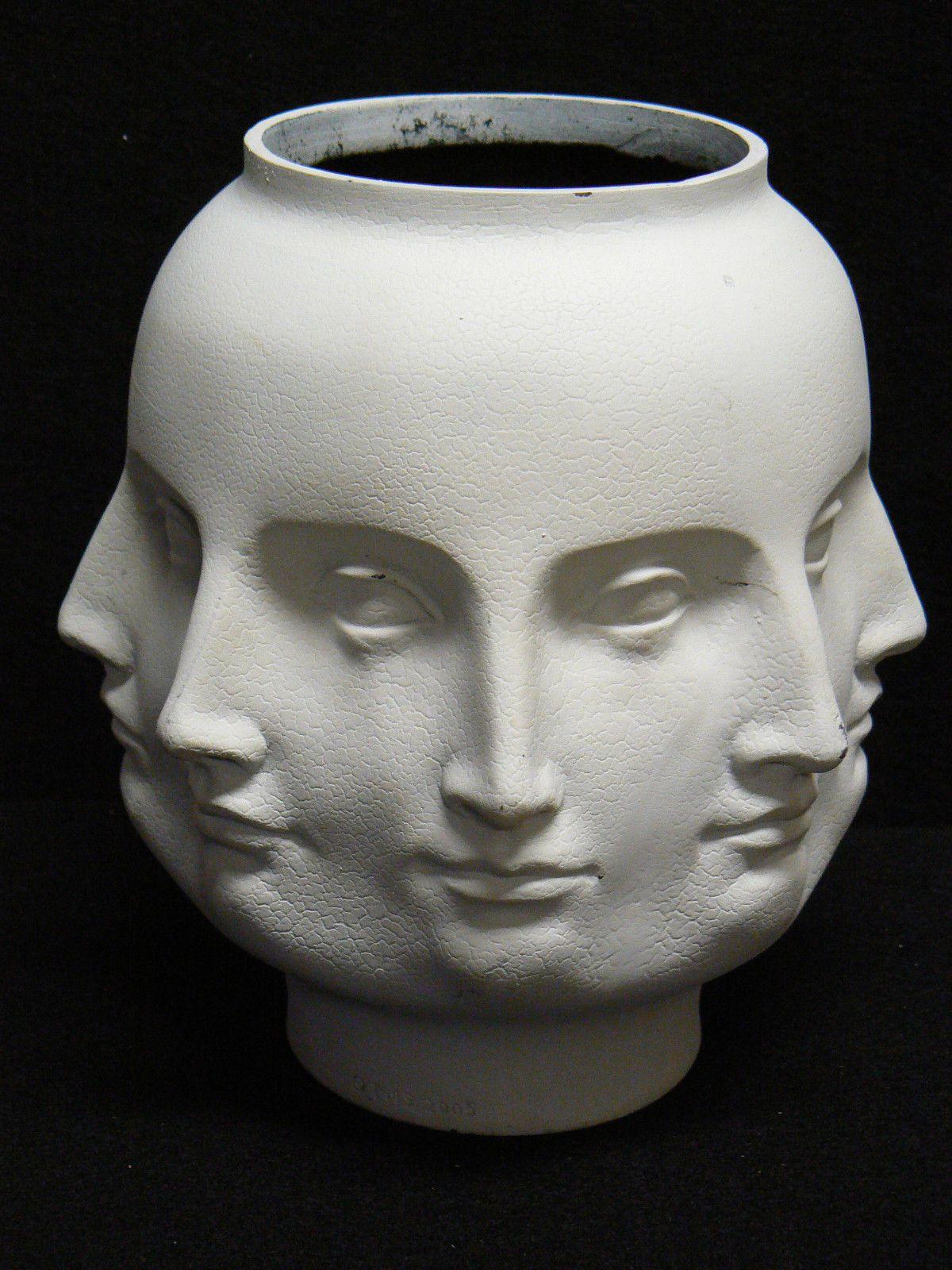 Dora Maar Modern Perpetual Face Vase Planter White Vitruvian Tms 2005 Fornasetti Ebay Face Vase Face Planters Dora Maar