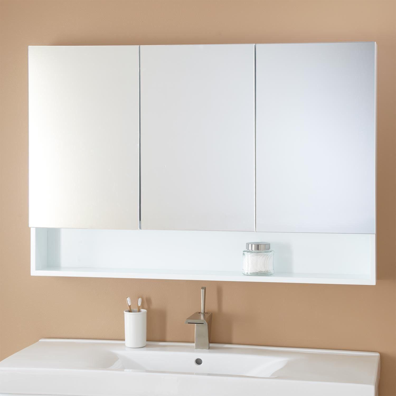 "48"" Kyra Medicine Cabinet  Medicine Cabinets White Medicine Fascinating Small Bathroom Medicine Cabinet Inspiration Design"