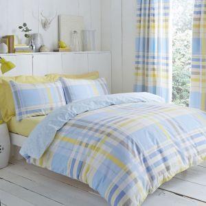 Camden Blue Double Bedding Set Duvet Cover Sets Modern Bed Set