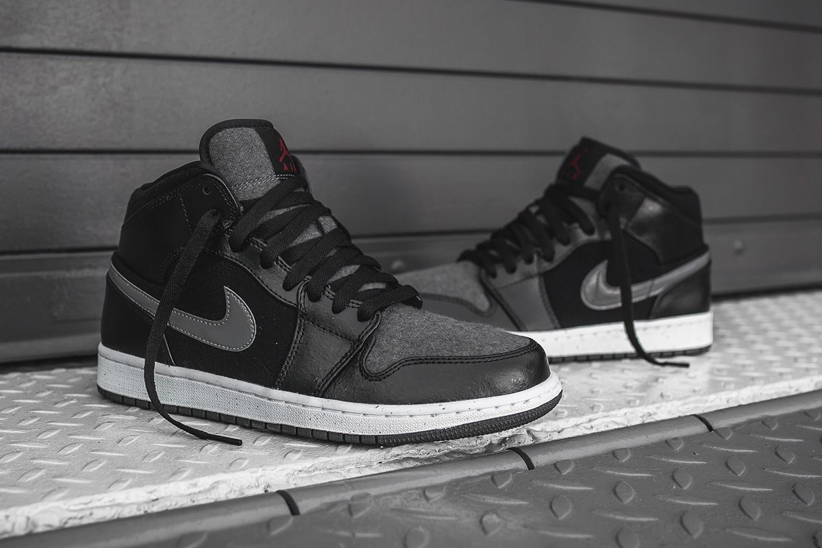 Premium Edition Air Jordan 1 Mid in Wool - EU Kicks: Sneaker Magazine