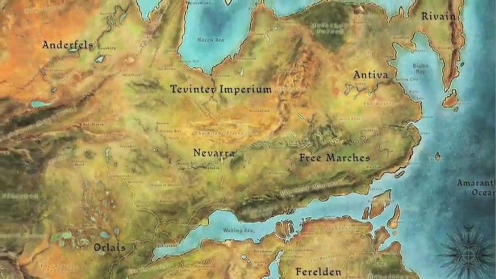 Dragon Age Inquisition Mapa.Dragon Age Inquisition Thedas Map Dragon Age Dragon Age