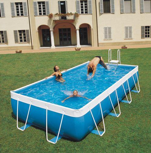 Piscine Azur 2000 4,00 x 2,80 m H. 1,05 m Filtre à