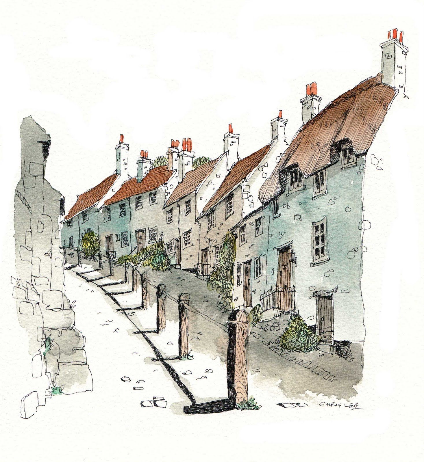 Gold Hill Is A Steep Cobbled Street In The Town Of Shaftesbury In