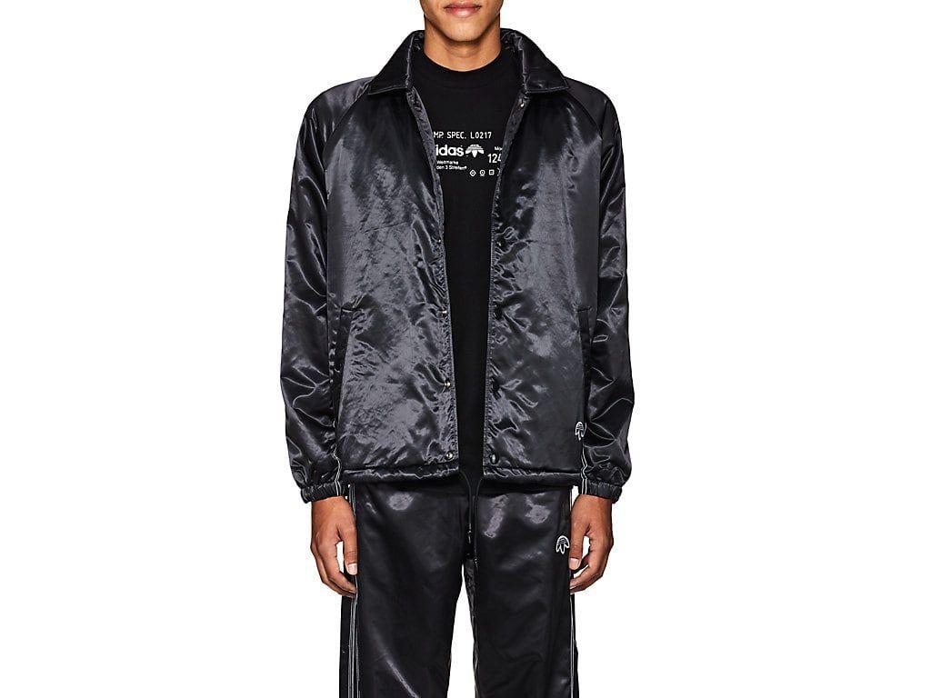 ADIDAS ORIGINALS BY ALEXANDER WANG LOGO TECH-SATIN COACH'S JACKET.  #adidasoriginalsbyalexanderwang #cloth