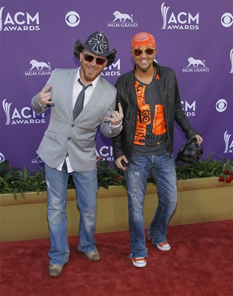 Chris Lucas And Preston Brust of  musical group: LoCash Cowboys at the CMA