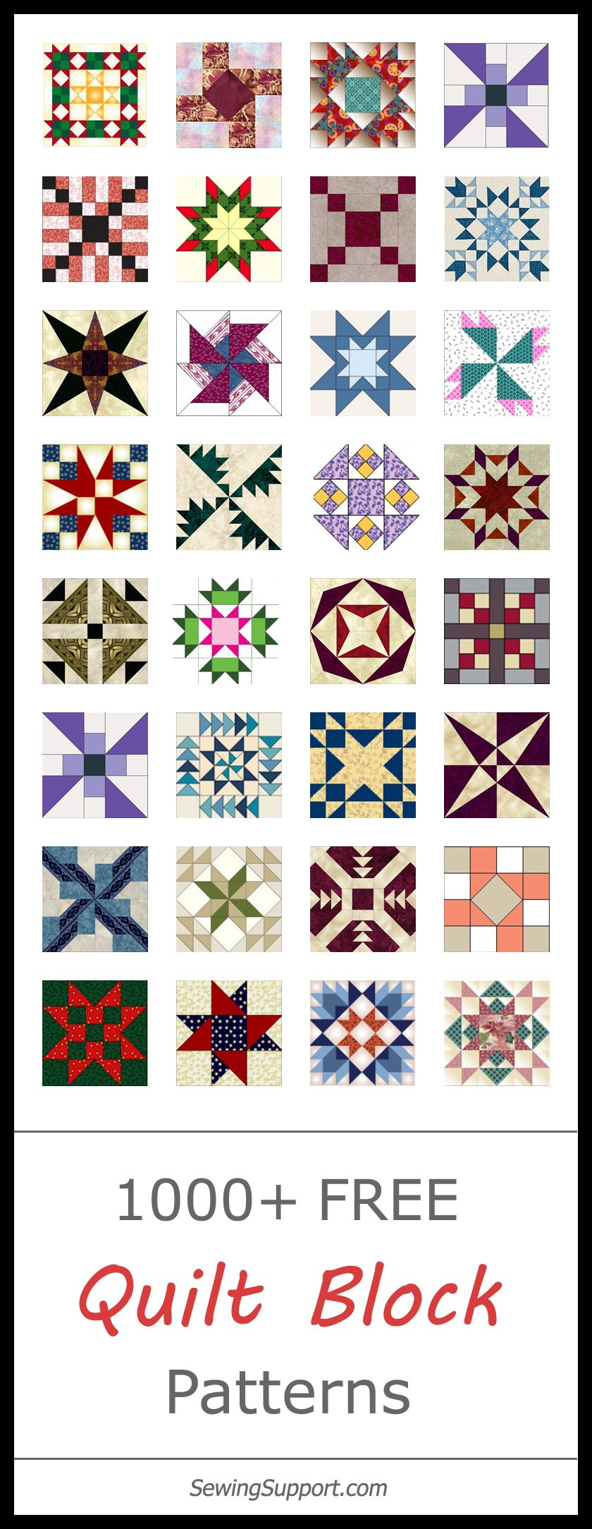 1000 Free Quilt Block Patterns Quilts And Quilt Blocks