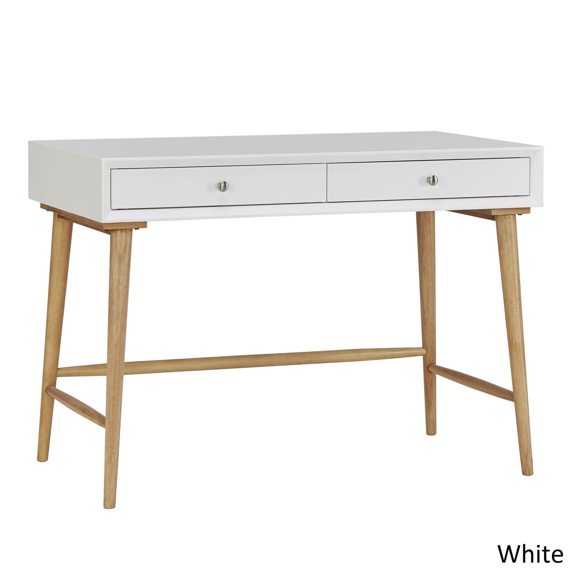 MID-CENTURY LIVING Marin Danish Modern 2-drawer Writing Desk | Overstock.com
