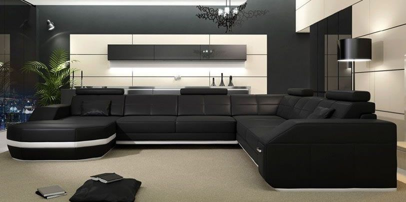 Large black sectional couch : sectionals couch - Sectionals, Sofas & Couches