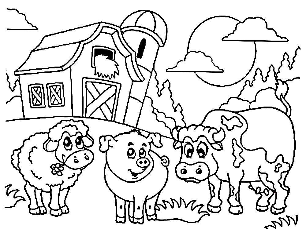 Fazenda Imprimir Desenhos Para Colorir Gratuitamente Para Meninos