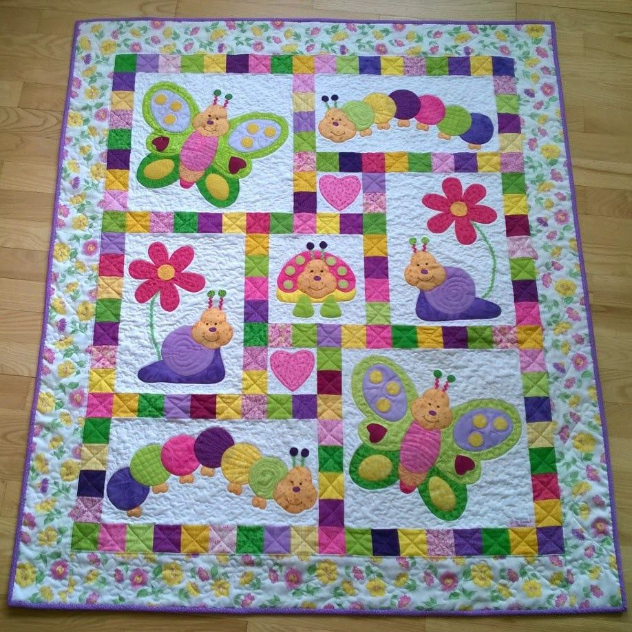 Take your favorite children's material and make it into a quilt ... : bug quilt - Adamdwight.com