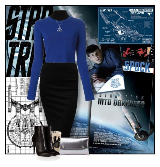"""SPOCK"" by papee liked on Polyvore featuring VesseL, Karl ..."