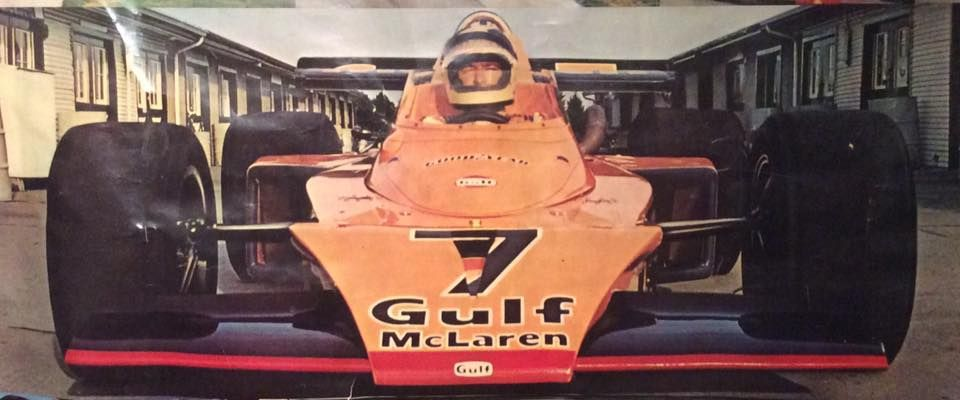 Johnny Rutherford - McLaren M16C [5] - Offenhauser 159 ci turbo - McLaren Cars - International 500 Mile Sweepstakes - 1973 USAC National Championship Trail, round 4