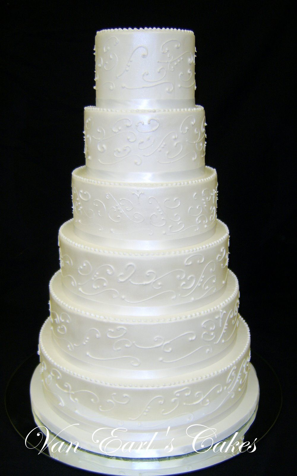 tall wedding cakes york pa | Van Earl\'s Cakes: Six Tier White ...