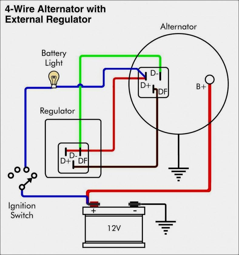 Nice Ford Alternator Wiring Diagram Internal Regulator External