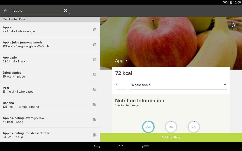 Lifesum Calorie Counter Pear nutrition, Calorie