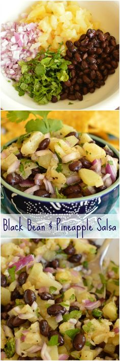 Black Bean and Pineapple is a fresh spin on an old favorite! It's a little sweet, a little spicy and can be served with chips or over chicken! It's like a staple at my house!