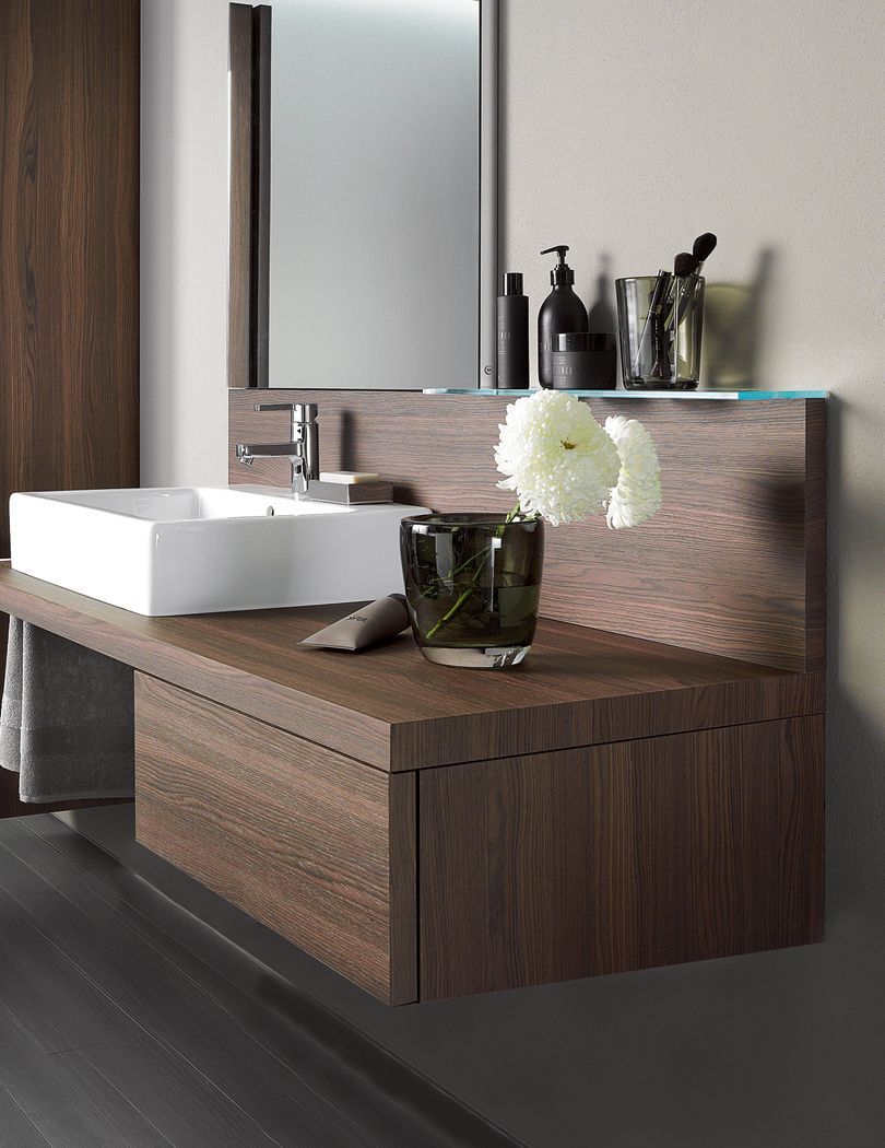 Duravit Delos Brushed Walnut 565 x 600mm Floor Cabinet | Bathroom ...