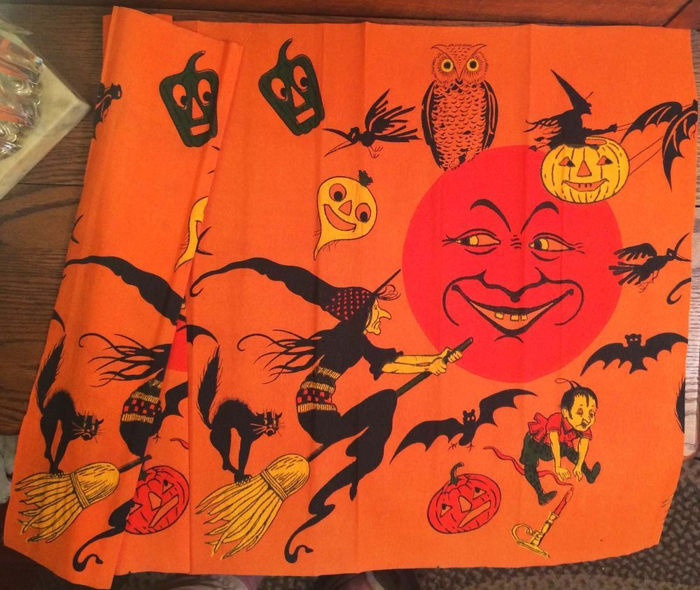 Vintage halloween paper decorations - Details About Near Mint Rare Vintage Halloween Crepe Paper Decoration Early 20th Century