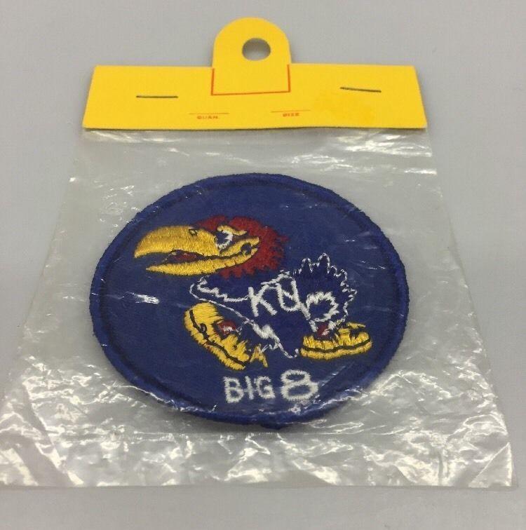 detailed look 96671 80cae Vintage Jayhawk Big 8 Conference Patch University of Kansas KU Lawrence  Packaged  JohnsenIndustries  UniversityofKansas