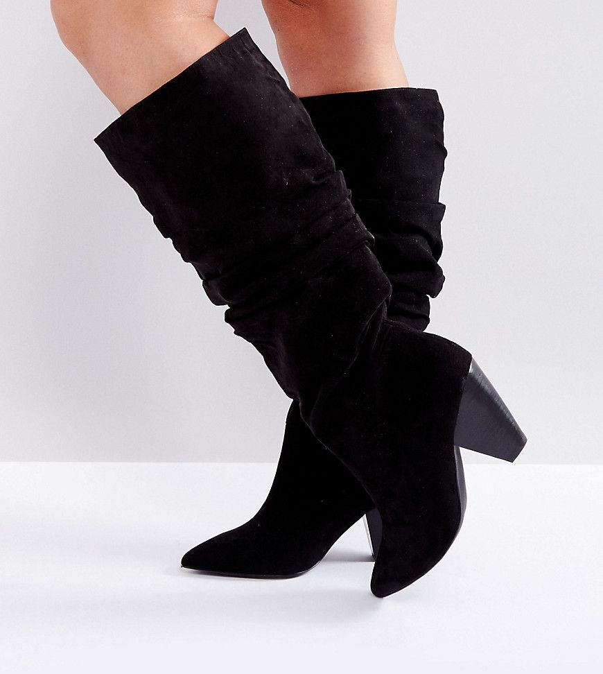 Knee Cadet Fit Slouch Wide BootsShoe Obsessions tshrdQCx