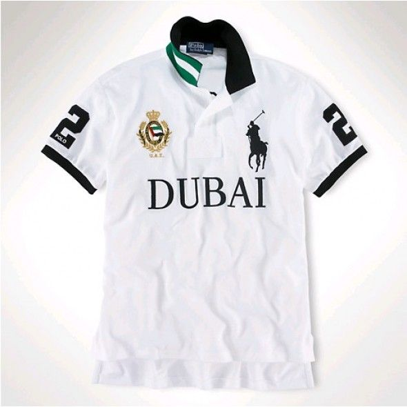 Ralph Lauren Men DUBAI White Black Big Pony Polo http://www.ralph