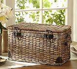 Daytrip Lidded Split Rattan Basket, Large
