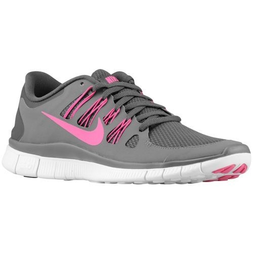 b15427b02a40 Nike Free 5.0+ - Women s - Running - Shoes - Silver Green Glow Summit White  Charred Grey