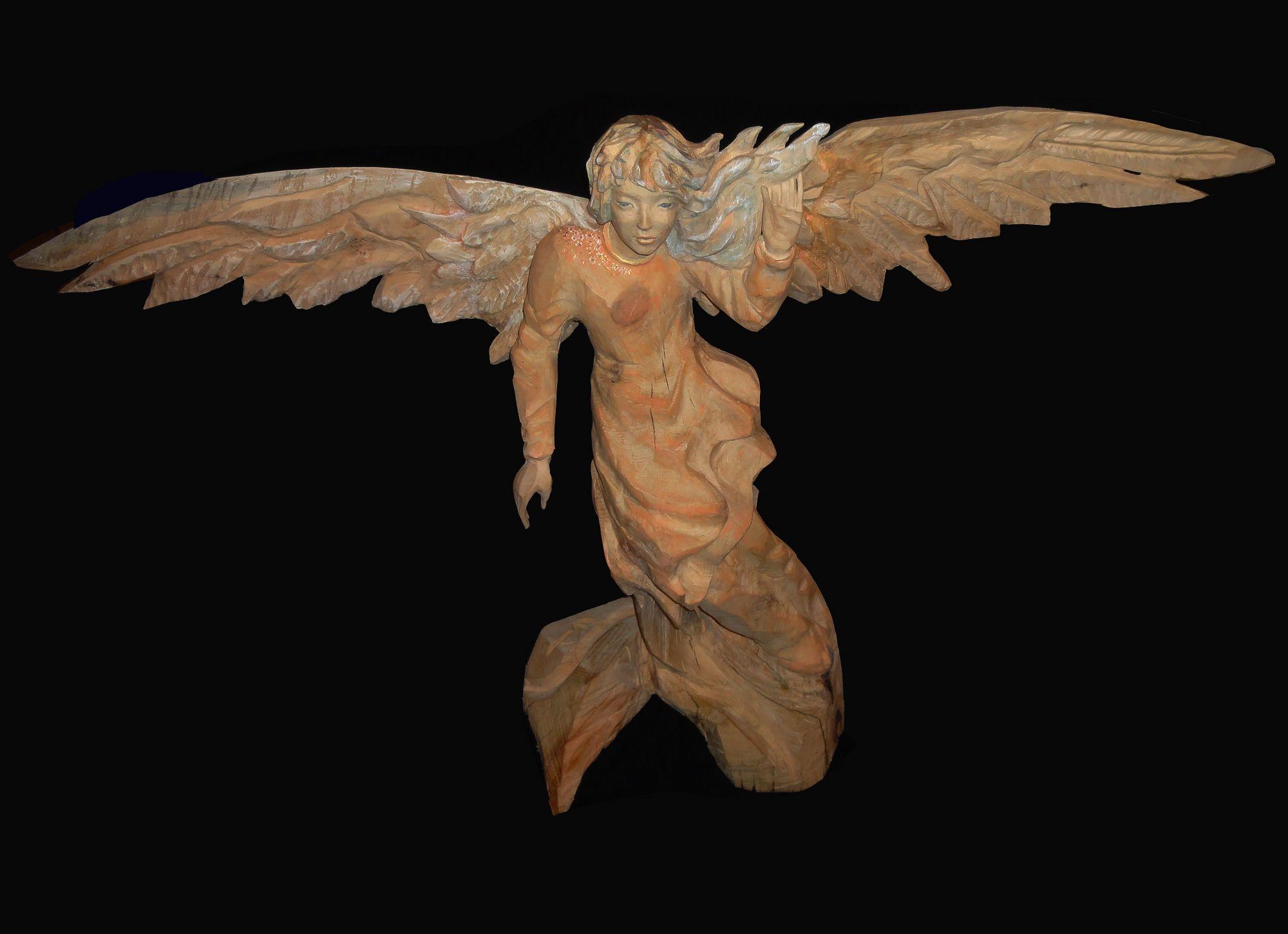 Himmelsbote #engel #angel #angelo #zirbe #chainsawcarving