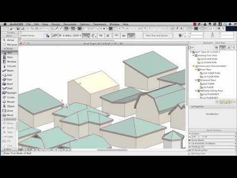 Archicad Tutorial Roof Modeling In Archicad 15 And Above Youtube Autocad Photoshop Pergola