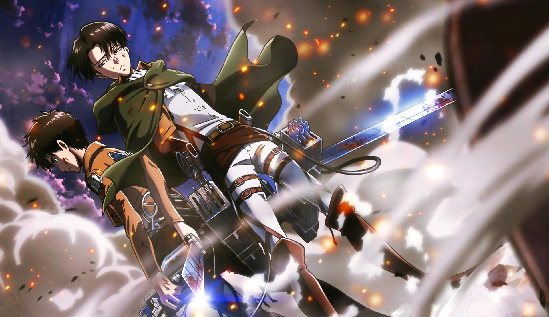 Anime Attack On Titan Eren Yeager Levi Ackerman Wallpaper Attack On Titan Anime Attack On Titan Attack On Titan Eren
