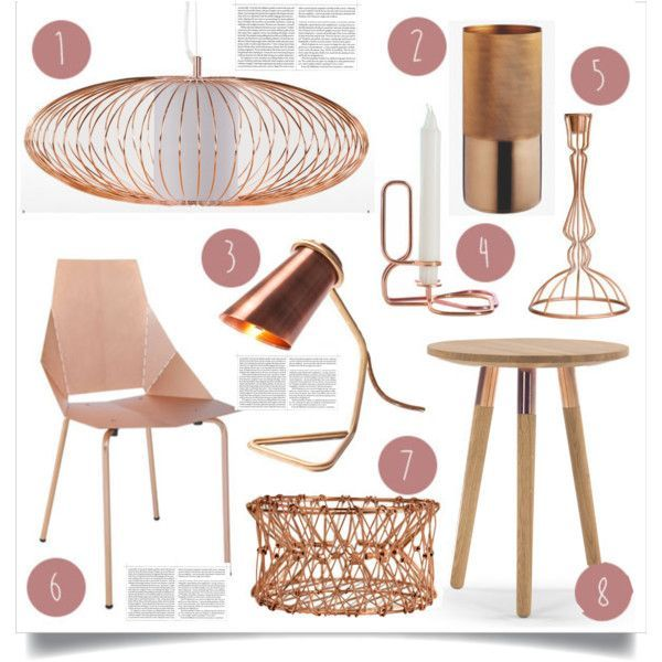 Copper by lidia-solymosi on Polyvore featuring interior, interiors, interior design, home, home decor, interior decorating, H&M and HAY