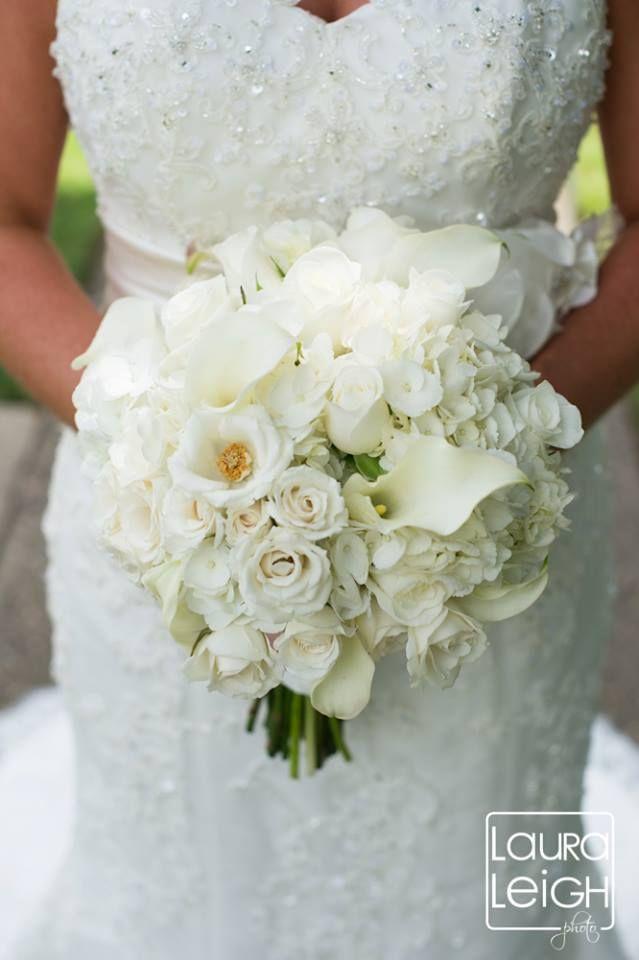 White Bridal Bouquet Ivory Bridal Bouquet Sottero And Midgley