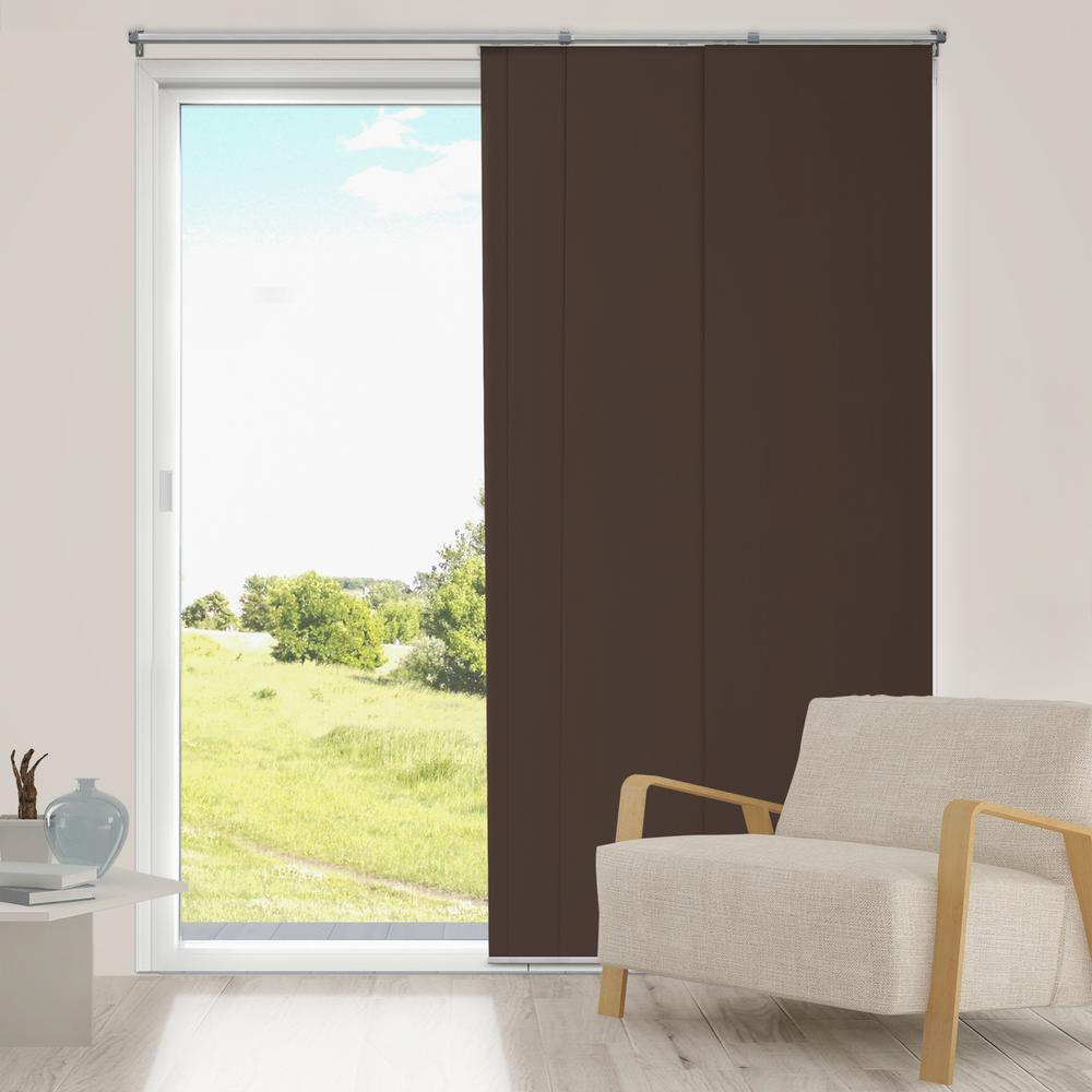 Chicology Panel Track Blinds Mountain Chocolate Cordless Blackout