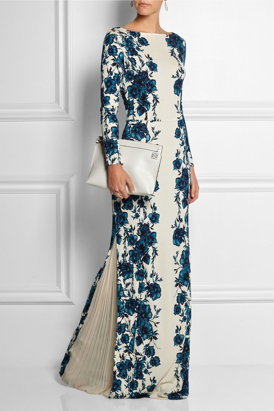 3b144e53782b2 Tory Burch | Stacy floral-print jersey maxi dress | NET-A-PORTER.COM Love  the closed slit on the side