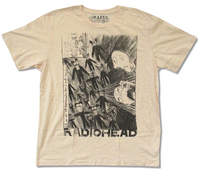 W A T E Radiohead Scribble On Natural T Shirt Saker Att Kopa