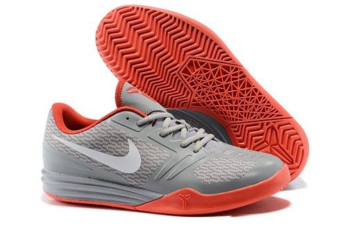 694207f85ea1 2015 NIKE KB MENTALITY kobe 10 men basketball shoes grey white red ...