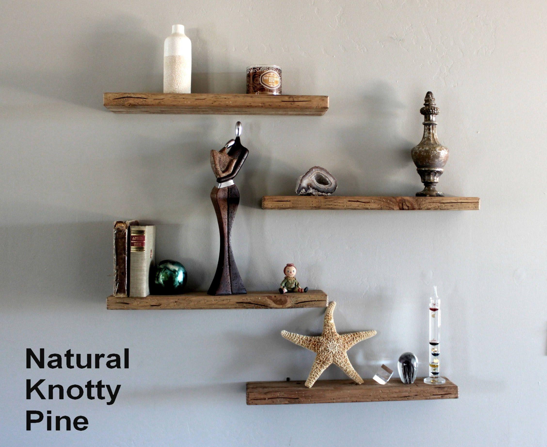 Easy Mount Reclaimed Wood Shelves Floating Shelves Floating Shelf