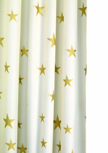 Gold Star Shower Curtain Bathroom Upcoming Update Fabric
