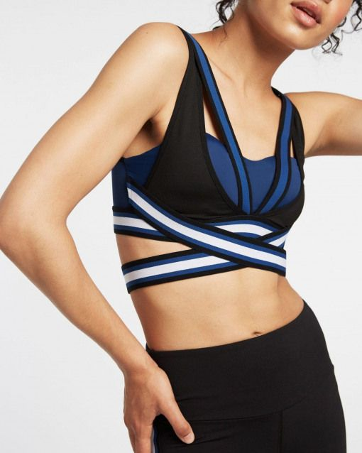 Michi NY Le Mans Sports bra with strap details   Fashercise activewear for the stylishly fit! #gymcl...