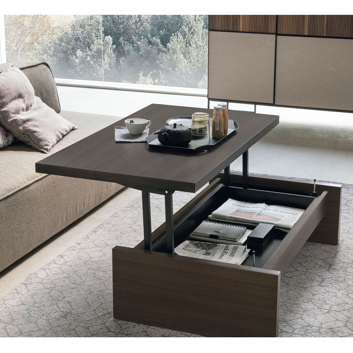 Cosmo Multi Functional Table In 2021 Coffee Table With Storage Coffee Table Function Tables [ jpg ]