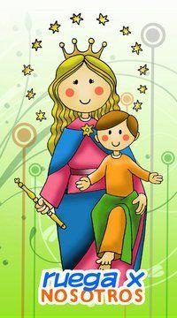 Virgen Maria Auxiliadora Caricatura Buscar Con Google Con