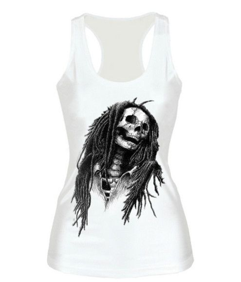 Hot Sale Black Skull Head T-shirt 3D Print Fitness Vests Dark Series Harajuku Camisoles Tank Tops Casual Women Clothing F55