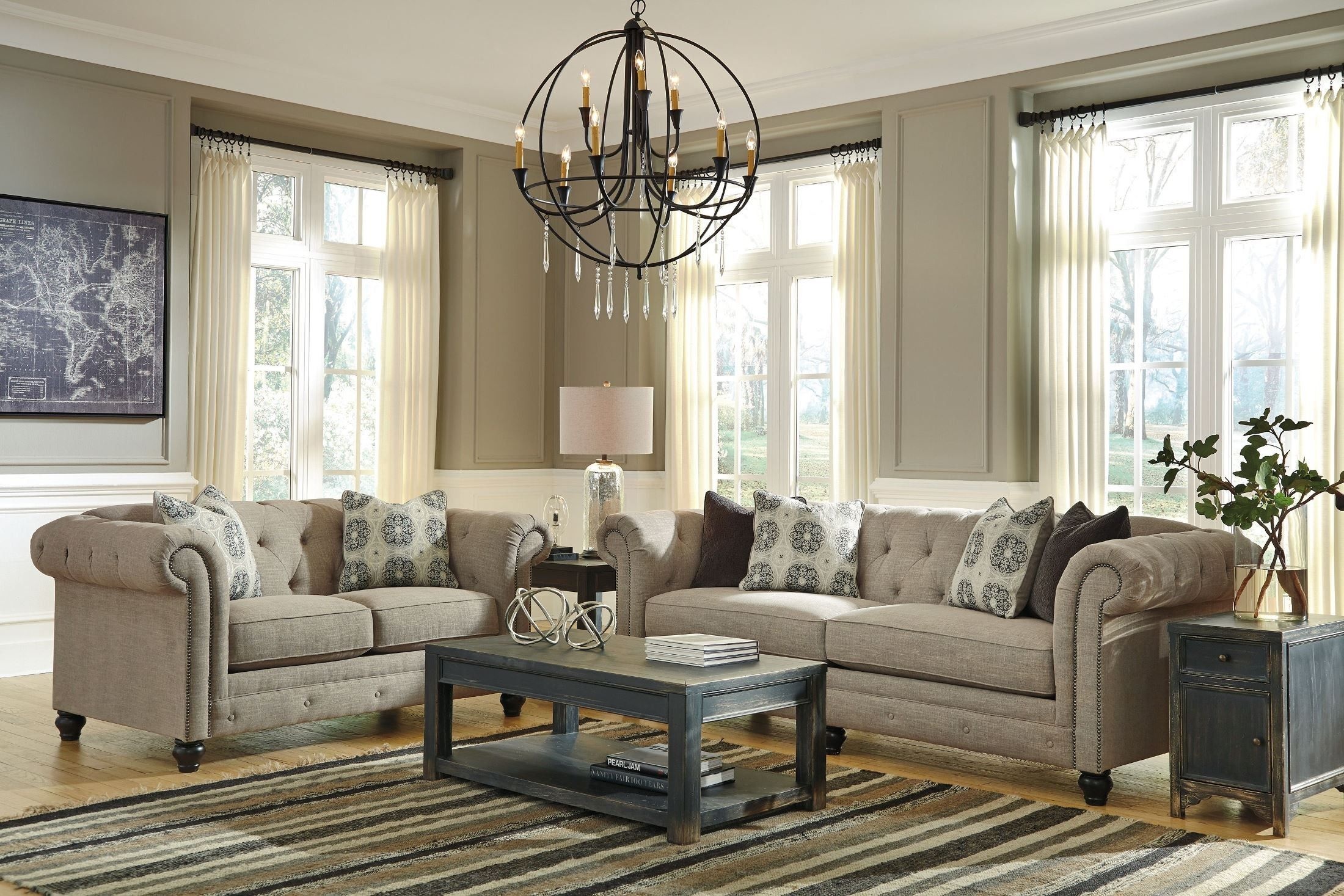 The Perfect Affordable Living Room Sofa! The Azlyn Sofa By Ashley Furniture  Will Easily Provide Your Family Room With Comfort And Style.