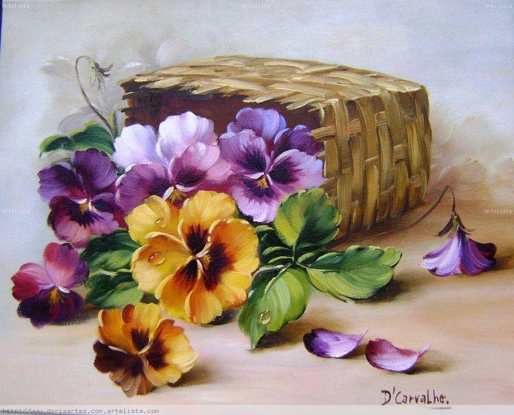 Resultado De Imagen Para Pinterest Flores Para Pintar Al Oleo