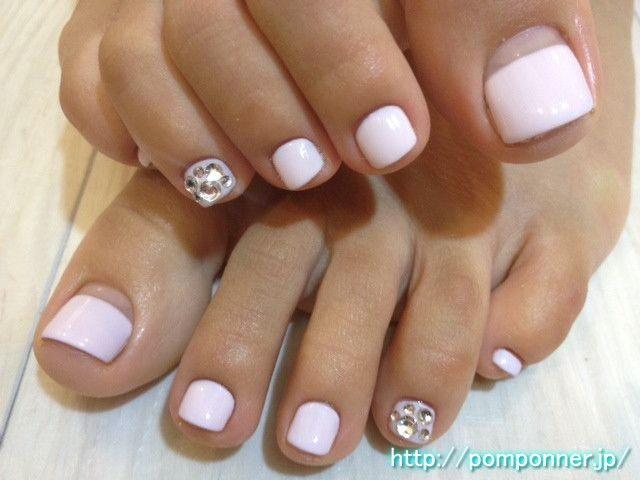 Pink Baby Foot French nail straight