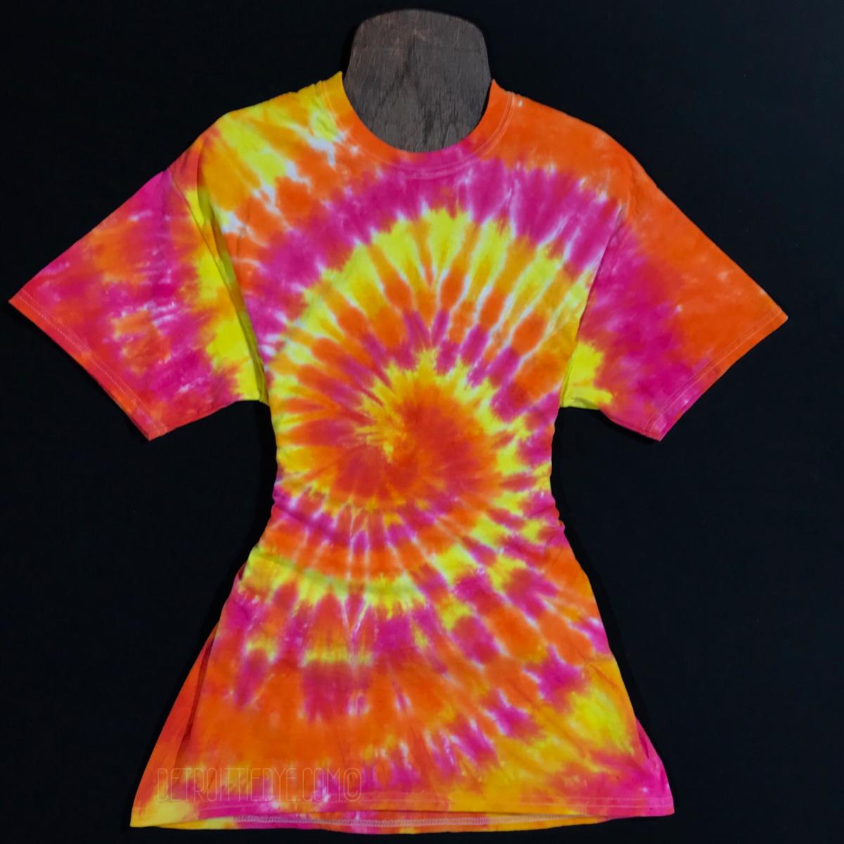 Tie Dye Shirt Sunset Spiral Custom Made To Order Tie Dye T Shirt