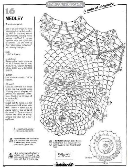 Heklanje Gratis 54   linad-linikud heegeldatud2- tablecloths ...