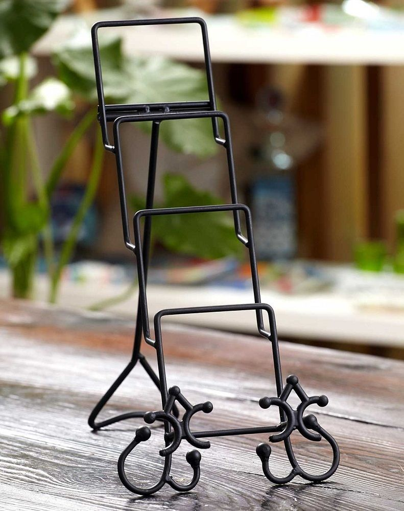 CYPRESS HOME Metal Plate Stand Black Quadruple #CYPRESSHOME & CYPRESS HOME Metal Plate Stand Black Quadruple #CYPRESSHOME | Plate ...