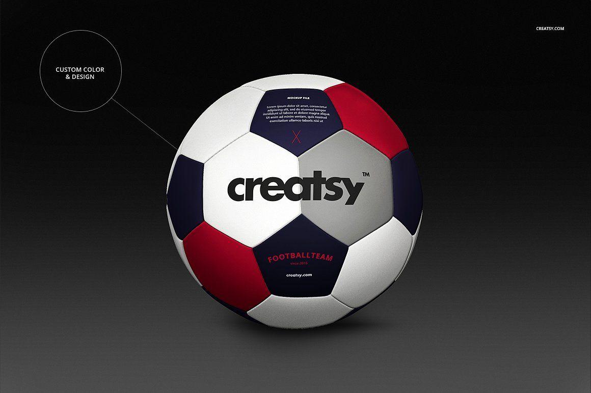 Download Soccer Ball Mockup Set Soccer Ball Soccer Creative Typography Design