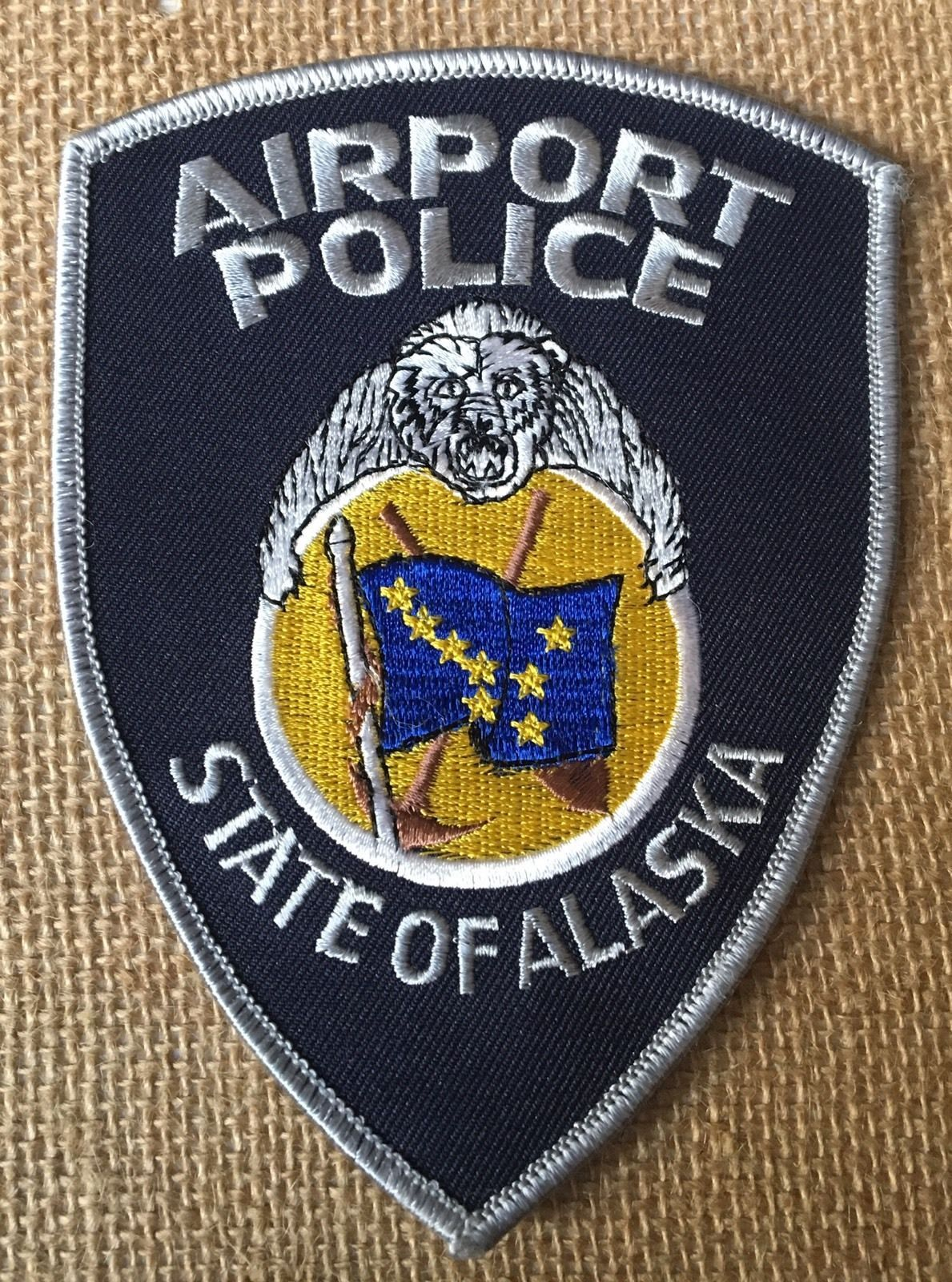 Vintage Obsolete Shoulder Patch Airport Police State Of